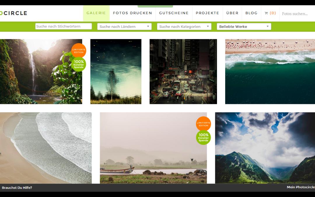 Photocircle: Fotos kaufen und Menschen helfen!